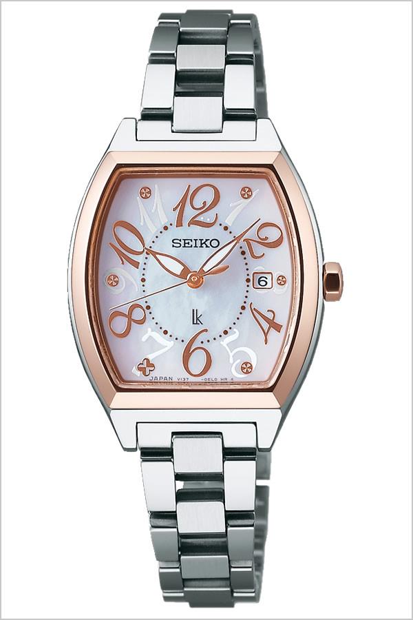 セイコー ルキア 腕時計[SEIKO LUKIA 時計] SEIKOLUKIA 時計[セイコールキア 腕時計]セイコールキア時計 SEIKOLUKIA腕時計 セイコールキア腕時計 レディース ホワイト SSVN026 [ブランド メタル ベルト ソーラー シルバー ピンク ゴールド][バーゲン プレゼント ギフト]