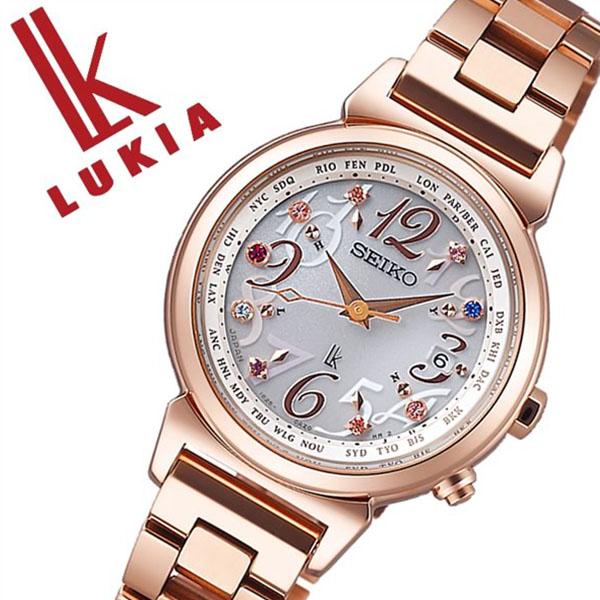 セイコー ルキア SEIKO LUKIA 時計 セイコールキア 腕時計 SEIKOLUKIA レディース ホワイト SSVV024 メタル ベルト 防水 ソーラー 電波修正 限定 3000本 ピンク ゴールド 送料無料