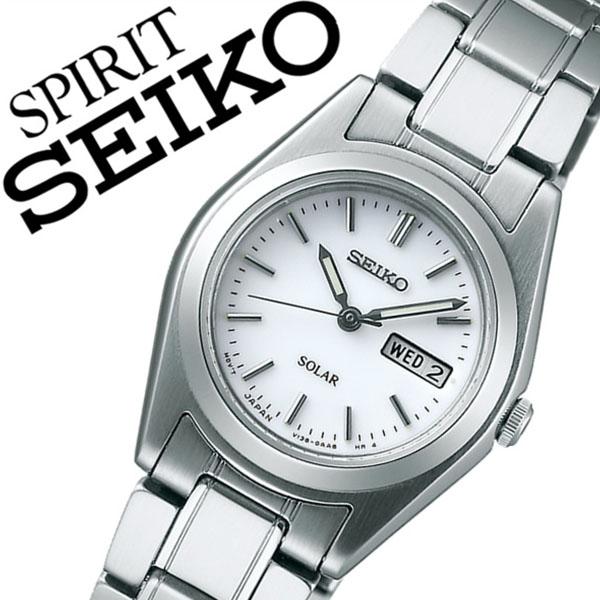 セイコー スピリット 腕時計[SEIKO SPIRIT 時計]セイコースピリット 時計[SEIKOSPIRIT 腕時計]セイコー スピリット時計[SEIKO SPIRIT時計]レディース ホワイト STPX013 [スピリッツ メタル ベルト ソーラー シルバー シンプル][バーゲン プレゼント ギフト]