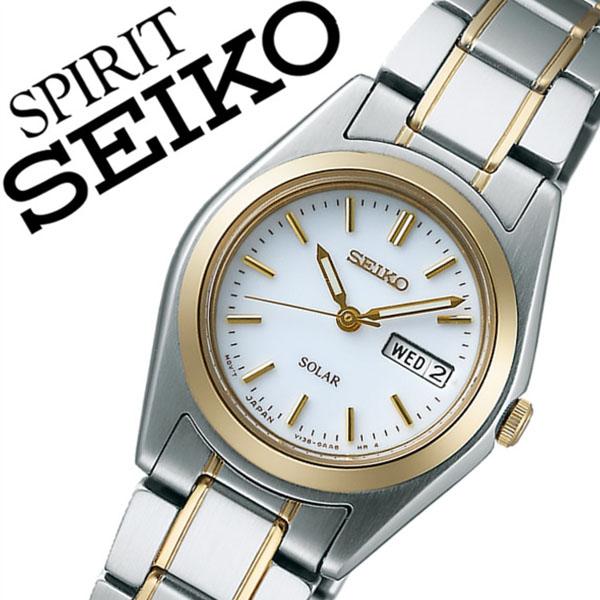 セイコー スピリット 腕時計[SEIKO SPIRIT 時計]セイコースピリット 時計[SEIKOSPIRIT 腕時計]セイコー スピリット時計[SEIKO SPIRIT時計]レディース ホワイト STPX014 [スピリッツ メタル ベルト ソーラー シルバー ゴールド シンプル][バーゲン プレゼント ギフト]