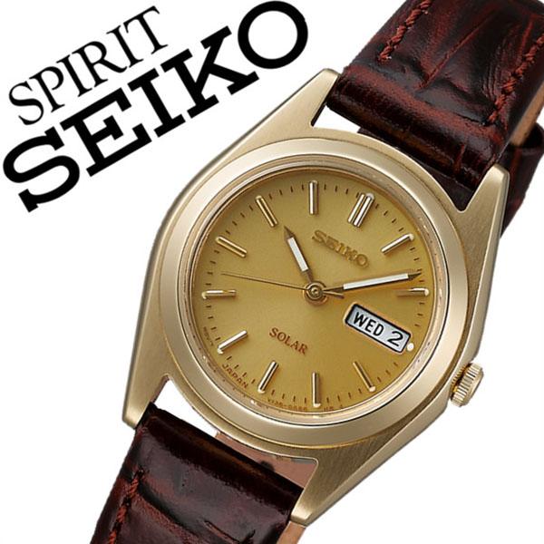 [当日出荷] 【5年保証対象】セイコー スピリット 腕時計 SEIKO SPIRIT 時計 セイコースピリット 時計 SEIKOSPIRIT 腕時計 セイコー スピリット時計 SEIKO SPIRIT時計 レディース ゴールド STPX020 スピリッツ 革 ベルト ソーラー ブラウン シンプル 送料無料