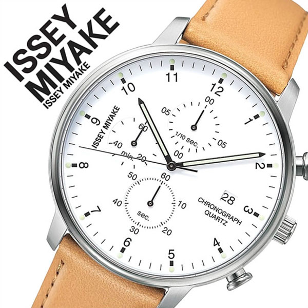 イッセイミヤケ 腕時計[ISSEYMIYAKE 時計]イッセイ ミヤケ 時計[ISSEY MIYAKE 腕時計]岩崎 一郎 シィ ICHIRO IWASAKI 「C」 メンズ ホワイト NYAD004 [革 ベルト モード ブランド デザイナーズ プロダクトデザイン バーゲン プレゼント ギフト 祝い][おしゃれ 腕時計]