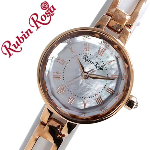 ルビンローザ 腕時計[RubinRosa 時計]ルビン ローザ 時計[RubinRosa 腕時計]ルビンローザ 時計 レディース ホワイト R015SOLPWH [ルビンローサ 新作 人気 流行 ブランド かわいい メタル ベルト ソーラー ピンクゴールド プチプラ][プレゼント バーゲン]