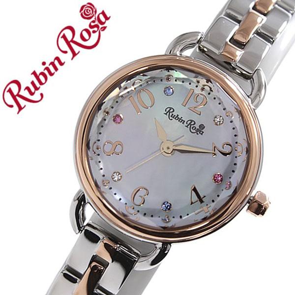 ルビンローザ 腕時計[RubinRosa 時計]ルビン ローザ 時計[RubinRosa 腕時計]ルビンローザ 時計 レディース ホワイト R019SOLTWH [ルビンローサ 新作 人気 流行 ブランド かわいい メタル ベルト ソーラー シルバー ピンクゴールド スワロフスキー プチプラ]