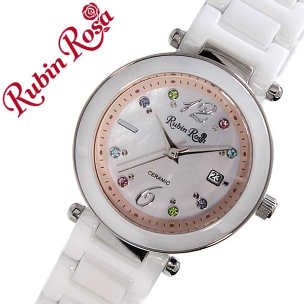 ルビンローザ 腕時計[RubinRosa 時計]ルビン ローザ 時計[RubinRosa 腕時計]ルビンローザ 時計 レディース ピンク R307SPKMOP [ルビンローサ 新作 人気 流行 ブランド かわいい セラミック ジルコニア ソーラー ホワイト プチプラ][プレゼント バーゲン]