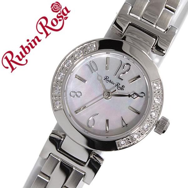 ルビンローザ 腕時計[RubinRosa 時計]ルビン ローザ 時計[RubinRosa 腕時計]ルビンローザ 時計 レディース ホワイト R504SPKMOP [ルビンローサ 新作 人気 流行 ブランド かわいい メタル ベルト ソーラー ジルコニア シルバー プチプラ][プレゼント バーゲン]