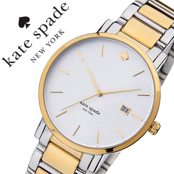 ケイトスペード 腕時計 [katespade時計]( kate spade 腕時計 ケイト スペード 時計 ) グラマシー ( Gramercy ) レディース 腕時計 シルバー 1YRU0108 [メタル ベルト かわいい イエロー ゴールド ツートン][バーゲン プレゼント ギフト][おしゃれ 腕時計]