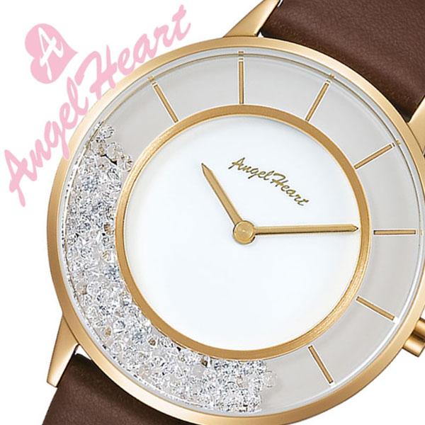 エンジェルハート 腕時計 [AngelHeart時計]( AngelHeart 腕時計 エンジェルハート 時計 ) ラブ グリッター ( Love Glitter ) レディース 腕時計 ホワイト LG36Y-BR [限定 1000本 アナログ ホワイト 革 レザー バンド][バーゲン プレゼント ギフト][おしゃれ 腕時計]