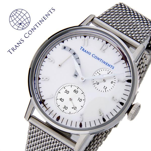 トランスコンチネンツ 腕時計 [TRANS CONTINENTS時計]( TRANS CONTINENTS 腕時計 トランスコンチネンツ 時計 ) アドベンチャー ( ADVENTURE ) レディース 腕時計 ホワイト TC-AD-003 [メタル ベルト 正規品 クオーツ ビジネス シルバー][バーゲン プレゼント ギフト]