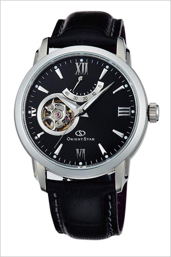 オリエント 腕時計 ORIENT 時計 オリエント腕時計 オリエント時計 ORIENT腕時計 オリエントスター セミスケルトン Orient Star Semi Skeleton メンズ ブラック WZ0221DA 人気 ブランド 革 ベルト 機械式 自動巻き メカニカル オリエント スター ブラック
