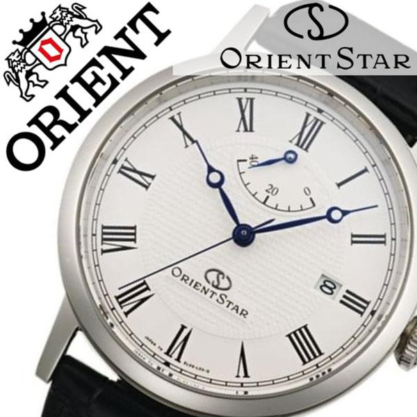 オリエント 腕時計 ORIENT 時計 オリエント腕時計 オリエント時計 ORIENT腕時計 オリエントスター エレガントクラシック Orient Star Elegant Classic メンズ オフホワイト WZ0341EL ブランド 革 ベルト 機械式 自動巻き オリエント スター ブラック シルバー 送料無料