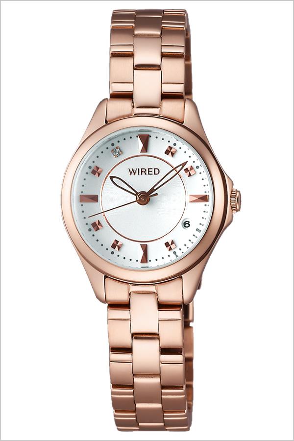 ワイアード 腕時計 [WIRED時計](WIRED 腕時計 ワイアード 時計) レディース 腕時計 ホワイト AGEK439 [メタル ベルト 正規品 SEIKO ワイヤード ローズ ゴールド ピンクゴールド クリスタル ストーン][バーゲン プレゼント ギフト][おしゃれ 腕時計]