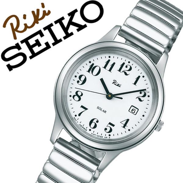 【延長保証対象】セイコー アルバ リキワタナベ 腕時計 SEIKO ALBA RIKIWATANABE 時計 セイコーアルバ リキ ワタナベ コレクション SEIKO ALBA RIKI WATANABE レディース ホワイト AKQD023 メタル ベルト 正規品 ソーラー ジャバラ シルバー 送料無料