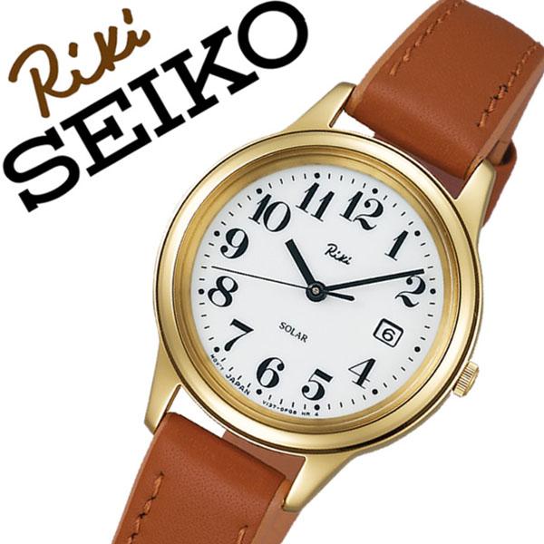セイコーアルバ 腕時計 (SEIKO ALBA 腕時計 セイコー アルバ 時計) リキ ワタナベ コレクション (RIKI WATANABE COLLECTION) レディース 腕時計 ホワイト AKQD027 [革 ベルト 正規品 ソーラー クォーツ ブラウン ゴールド][バーゲン プレゼント ギフト]