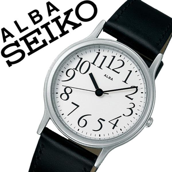 【延長保証対象】セイコー アルバ 腕時計 SEIKO ALBA 時計 セイコーアルバ SEIKOALBA アルバ時計 アルバ腕時計 メンズ ホワイト AQGN402 プレゼント ギフト 革 ベルト 正規品 アナログ スタンダード ブラック シルバー
