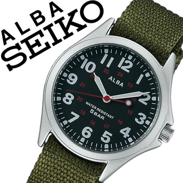 【延長保証対象】セイコー アルバ 腕時計 SEIKO ALBA 時計 セイコーアルバ SEIKOALBA アルバ時計 アルバ腕時計 メンズ ブラック AQPK403 プレゼント ギフト NATO ベルト 正規品 アナログ スタンダード グリーン カーキ シルバー