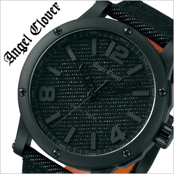 【5年保証対象】エンジェルクローバー 腕時計 AngelClover 時計 エンジェル クローバー 時計 Angel Clover 腕時計 エクスベンチャー SENSE センス コラボ メンズ ブラック EV46BBK-BD 革 ベルト ダイバー オールブラック デニム 限定 300本 コラボ 父の日 ギフト