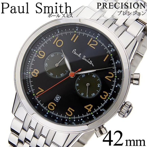 ポールスミス 腕時計 メンズ [Paul Smith 時計] プレシジョン ( PRECISION ) ブラック P10018 [メタル ベルト アナログ クロノグラフ シルバー][バーゲン プレゼント ギフト][おしゃれ 腕時計]