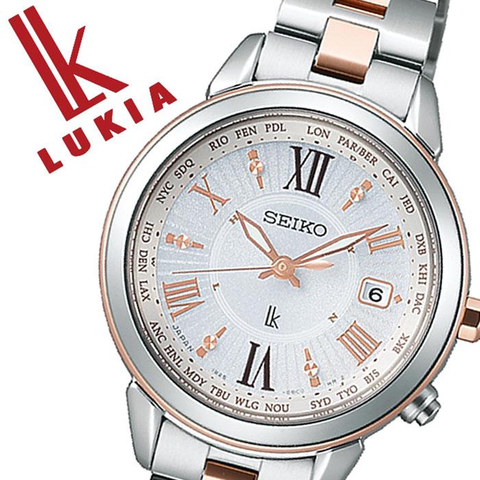 セイコー 腕時計 [SEIKO時計](SEIKO 腕時計 セイコー 時計) ルキア (LUKIA) レディース 腕時計 ホワイト SSQV020 [メタル ベルト 正規品 ソーラー 電波修正 シルバー ローズ ゴールド ピンクゴールド][バーゲン プレゼント ギフト][おしゃれ 腕時計]