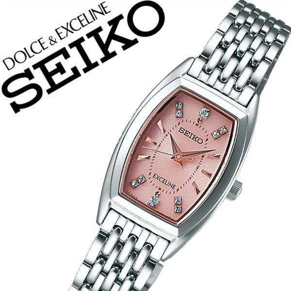 セイコー 腕時計 [SEIKO時計](SEIKO 腕時計 セイコー 時計) ドルチェ&エクセリーヌ (DOLCE&EXCELINE) レディース 腕時計 ピンク SWCQ087 [メタル ベルト 正規品 ソーラー 防水 シルバー ゴールド クリスタル ストーン][バーゲン プレゼント ギフト][おしゃれ 腕時計]