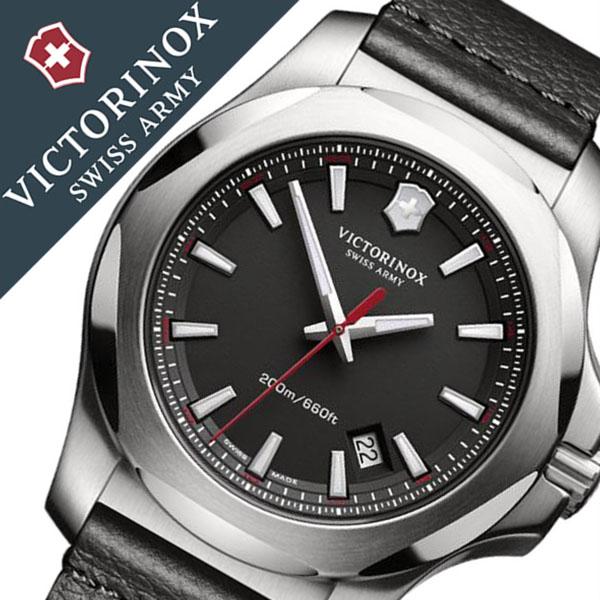ビクトリノックス 腕時計 [VICTORINOX時計]( VICTORINOX SWISSARMY 腕時計 ビクトリノックス スイスアーミー 時計 ) イノックス レザー 腕時計 ブラック VIC-241737 [正規品 ブランド レザー ベルト 革 防水 ミリタリー INOX][バーゲン プレゼント ギフト][おしゃれ]