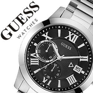 【5年保証対象】ゲス 腕時計 GUESS 時計 ゲス時計 ゲス腕時計 アトラス ATLAS メンズ ブラック W0668G3 メタル ベルト 人気 ブランド guesswatch ゲスウォッチ ファッション ウォッチ カジュアル シルバー プレゼント ギフト 送料無料