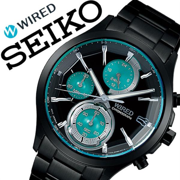 【5年保証対象】ワイアード 腕時計 WIRED 時計 ワイアード 時計 WIRED 腕時計 リフレクション REFLECTION メンズ ブラック AGAV121 メタル ベルト 正規品 防水 SEIKO ワイヤード クロノグラフ グリーン 父の日 ギフト