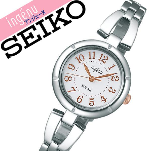 【延長保証対象】セイコー アルバ アンジェーヌ 腕時計 SEIKO ALBA ingene 時計 セイコーアルバ SEIKOALBA アルバアンジェーヌ albaingene アンジェーン レディース ホワイト AHJD094 メタル ベルト 正規品 ソーラー シルバー ローズ ゴールド 送料無料