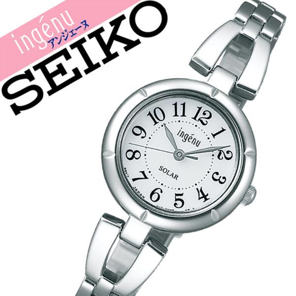 【延長保証対象】セイコー アルバ アンジェーヌ 腕時計 SEIKO ALBA ingene 時計 セイコーアルバ SEIKOALBA アルバアンジェーヌ albaingene アンジェーン レディース ホワイト AHJD095 メタル ベルト 正規品 ソーラー シルバー 送料無料