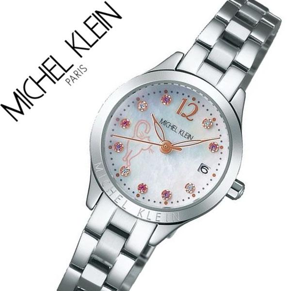 【5年保証対象】セイコー 腕時計 SEIKO 時計 セイコー 時計 SEIKO 腕時計 ミッシェルクラン MICHEL KLEIN レディース シェル AJCT701 正規品 限定モデル 猫 ネコ ねこ キャット シルバー メタル ベルト 送料無料
