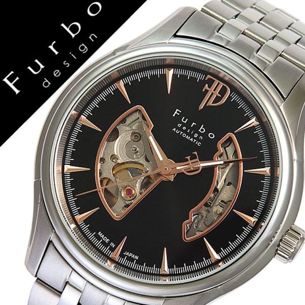 フルボデザイン 腕時計 [Furbodesign時計]( Furbo design 腕時計 フルボ デザイン 時計 ) メンズ 腕時計 ブラック F5025NBKSS [メタル ベルト 正規品 機械式 自動巻 メカニカル オートマチック オープンハート シルバー ローズ ゴールド][プレゼント バーゲン]