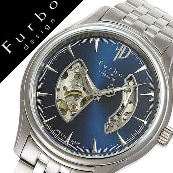 フルボデザイン 腕時計 [Furbodesign時計]( Furbo design 腕時計 フルボ デザイン 時計 ) メンズ 腕時計 ブルー F5025NBLSS [メタル ベルト 正規品 機械式 自動巻 メカニカル オートマチック オープンハート ネイビー シルバー][プレゼント バーゲン]