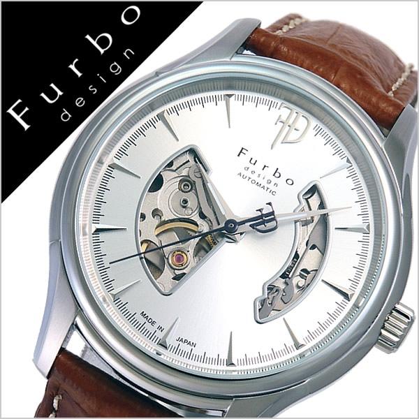 フルボデザイン 腕時計 [Furbodesign時計]( Furbo design 腕時計 フルボ デザイン 時計 ) メンズ 腕時計 シルバー F5025NSIBR [革 ベルト 正規品 機械式 自動巻 メカニカル オートマチック オープンハート ブラウン][プレゼント バーゲン][おしゃれ 腕時計]