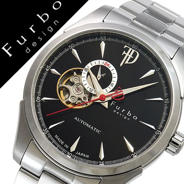 【5年保証対象】フルボデザイン 腕時計 Furbodesign 時計 フルボ デザイン 時計 Furbo design 腕時計 メンズ ブラック F5029BKSS メタル ベルト 正規品 機械式 自動巻 メカニカル おしゃれ オートマチック シルバー イタリア 送料無料