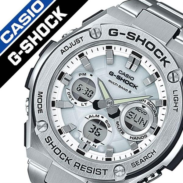 カシオ 腕時計 [CASIO時計](CASIO 腕時計 カシオ 時計) Gショック ジースティール (G-SHOCK G-STEEL) メンズ 腕時計 ホワイト GST-W110D-7AJF [アナデジ デジタル 正規品 防水 液晶 タフ ソーラー ストップ ウォッチ 電波 時計 シルバー]