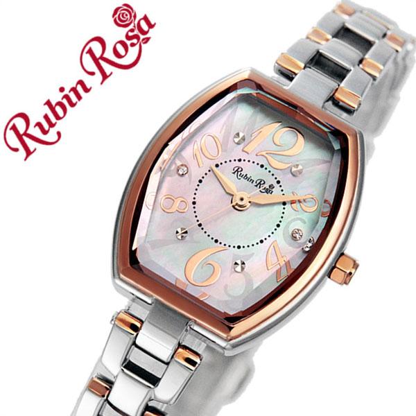 ルビンローザ 時計 レディース 女性 [Rubin Rosa] 腕時計 ピンク R018SOLTWH [新作 人気 ブランド かわいい メタル ベルト ソーラー ローズ ゴールド クリスタル シルバー][バーゲン プレゼント ギフト][おしゃれ 腕時計]