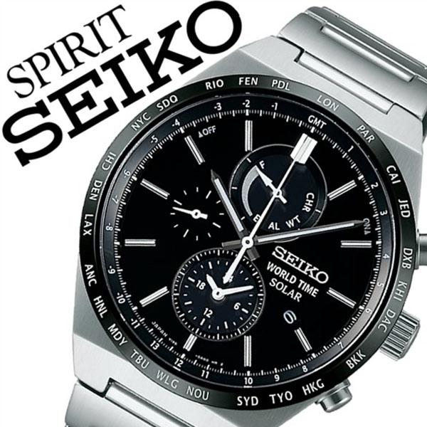 [当日出荷] 【5年保証対象】セイコー スピリット スマート 腕時計 SEIKO SPIRIT SMART 時計 セイコー 時計 SEIKO 腕時計 メンズ ブラック SBPJ025 メタル ベルト 正規品 防水 ソーラー シルバー 送料無料