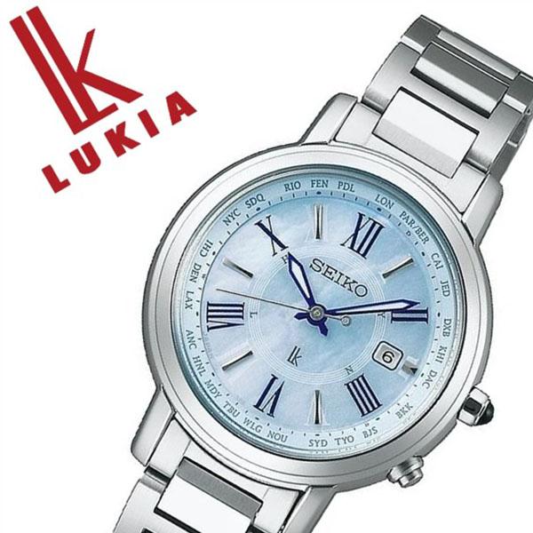 【5年保証対象】セイコー ルキア 腕時計 SEIKO LUKIA 時計 セイコー 時計 SEIKO 腕時計 レディース ブルーシェル SSQV027 正規品 ソーラー電波 ビジネス フォーマル シック シルバー メタル ベルト