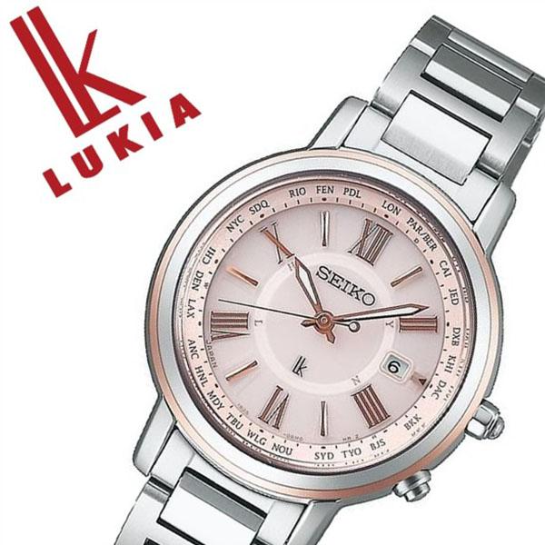 セイコー腕時計 SEIKO時計 SEIKO 腕時計 セイコー 時計 ルキア LUKIA レディース ピンク SSQV028 [正規品 ソーラー電波 ビジネス フォーマル シック シルバー メタル ベルト][おしゃれ 腕時計]