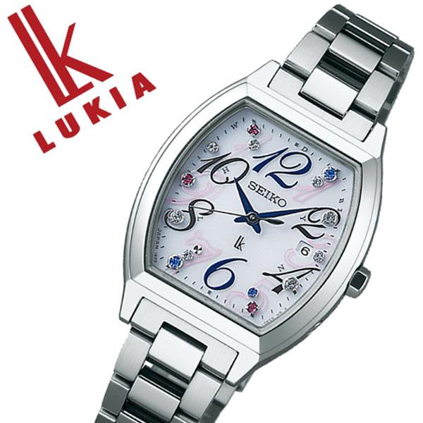 セイコー ルキア SEIKO LUKIA 時計 セイコールキア 腕時計 SEIKOLUKIA ルキア時計 ルキア腕時計 レディース ホワイト SSVW081 メタル ベルト 正規品 防水 ソーラー 電波修正 クリスタル ストーン 限定 3000本 シルバー 送料無料