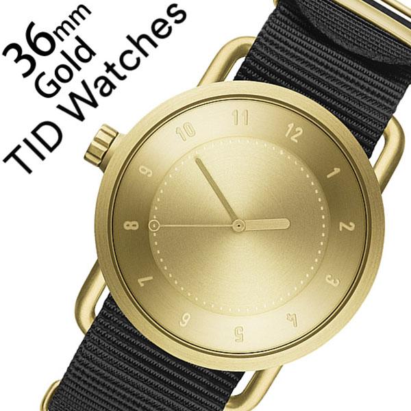 ティッドウォッチ 腕時計 [TIDWatches時計]( TID Watches 腕時計 ティッド ウォッチ 時計 ) ( TIDNo. 1 ) レディース 腕時計 ゴールド TID01-GD36-NBK [NATO ベルト おしゃれ 正規品 No.1 北欧 アナログ ナトー ブラック NYLON ナイロン][クリスマス ギフト]