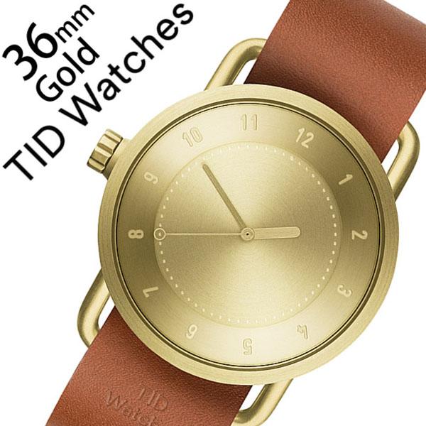 ティッドウォッチ 腕時計 [TIDWatches時計]( TID Watches 腕時計 ティッド ウォッチ 時計 ) ( TIDNo. 1 ) レディース 腕時計 ゴールド TID01-GD36-T [革 ベルト おしゃれ 正規品 No.1 北欧 アナログ ブラウン TAN タン][クリスマス ギフト][プレゼント ギフト][新生活]