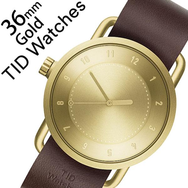 ティッドウォッチ 腕時計 [TIDWatches時計]( TID Watches 腕時計 ティッド ウォッチ 時計 ) ( TIDNo. 1 ) レディース 腕時計 ゴールド TID01-GD36-W [革 ベルト おしゃれ 正規品 No.1 北欧 アナログ ダーク ブラウン WALNUT ウォルナット][クリスマス ギフト]