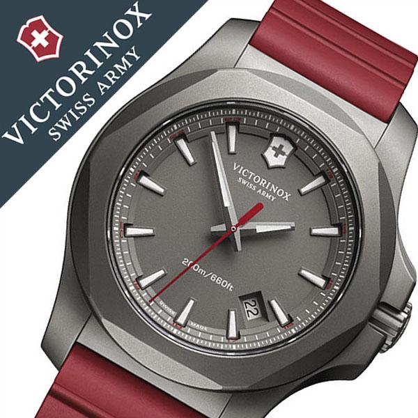 ビクトリノックススイスアーミー腕時計 VICTORINOX SWISSARMY 腕時計 ビクトリノックス スイスアーミー 時計 イノックス チタニウム I.N.O.X. TITANIUM メンズ グレー VIC-249115 [新作 正規品 ブランド チタン ラバー ベルト ミリタリー INOX レッド 限定 150本 限定品]