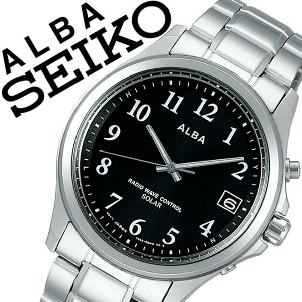 【5年保証対象】セイコー 腕時計 SEIKO 時計 セイコー 時計 SEIKO 腕時計 アルバ ALBA メンズ レディース ブラック AEFY501 新作 人気 正規品 ブランド 防水 電波ソーラー 防水 ソーラー 電波修正 メタル ベルト シルバー 送料無料