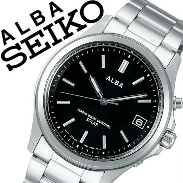 【5年保証対象】セイコー 腕時計 SEIKO 時計 セイコー 時計 SEIKO 腕時計 アルバ ALBA メンズ レディース ブラック AEFY502 新作 人気 正規品 ブランド 防水 電波ソーラー 防水 ソーラー 電波修正 メタル ベルト シルバー 父の日 ギフト