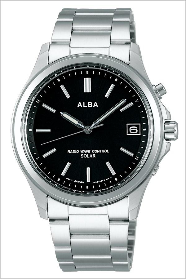【5年保証対象】セイコー 腕時計 SEIKO 時計 セイコー 時計 SEIKO 腕時計 アルバ ALBA メンズ レディース ブラック AEFY502 新作 人気 正規品 ブランド 防水 電波ソーラー 防水 ソーラー 電波修正 メタル ベルト シルバー