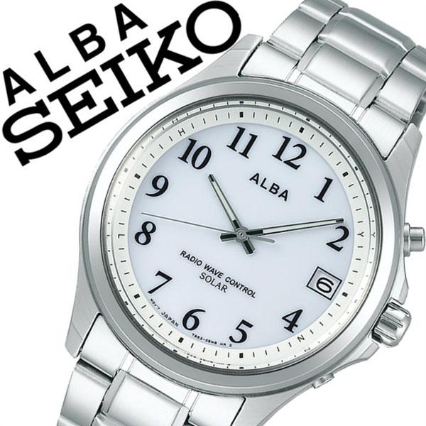 【5年保証対象】セイコー 腕時計 SEIKO 時計 セイコー 時計 SEIKO 腕時計 アルバ ALBA メンズ レディース ブルー AEFY503 新作 人気 正規品 ブランド 防水 電波ソーラー 防水 ソーラー 電波修正 メタル ベルト シルバー 送料無料