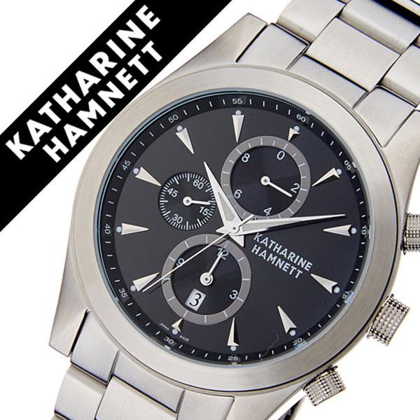 キャサリンハムネット腕時計 KATHARINE HAMNETT 腕時計 キャサリン ハムネット 時計 クロノグラフ 2 CHRONOGRAPH II メンズ ブラック KH2061-B34 [正規品 人気 新作 ブランド トレンド おすすめ 高級 イギリス アンティーク ファッション メタル ベルト]
