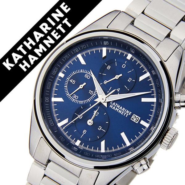 キャサリンハムネット腕時計 KATHARINE HAMNETT 腕時計 キャサリン ハムネット 時計 クロノグラフ 7 CHRONOGRAPH VII メンズ ネイビー KH20D1-B64 [正規品 人気 新作 ブランド トレンド おすすめ 高級 イギリス アンティーク ファッション メタル ベルト]